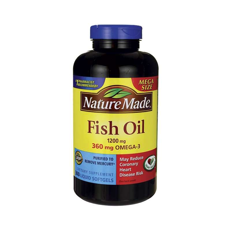 Fish oil 1 200 mg 300 sgels for Where does fish oil come from