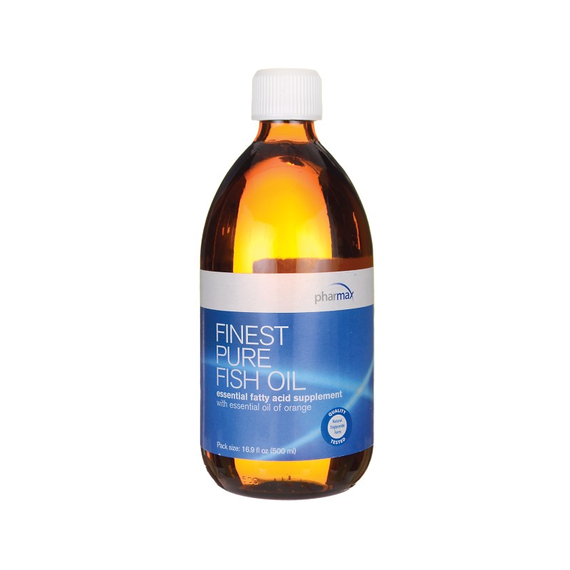 Finest pure fish oil with essential oil of orange 16 9 fl for Pharmax fish oil