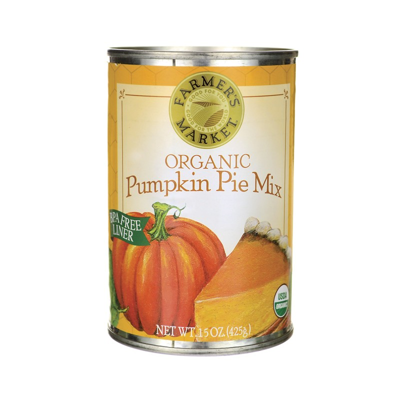 Organic Canned Pumpkin Pie Mix, 15 Oz Can
