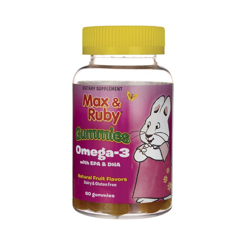 Max ruby gummies omega3 fruit 60 gummies for Fish oil for toddlers speech delay