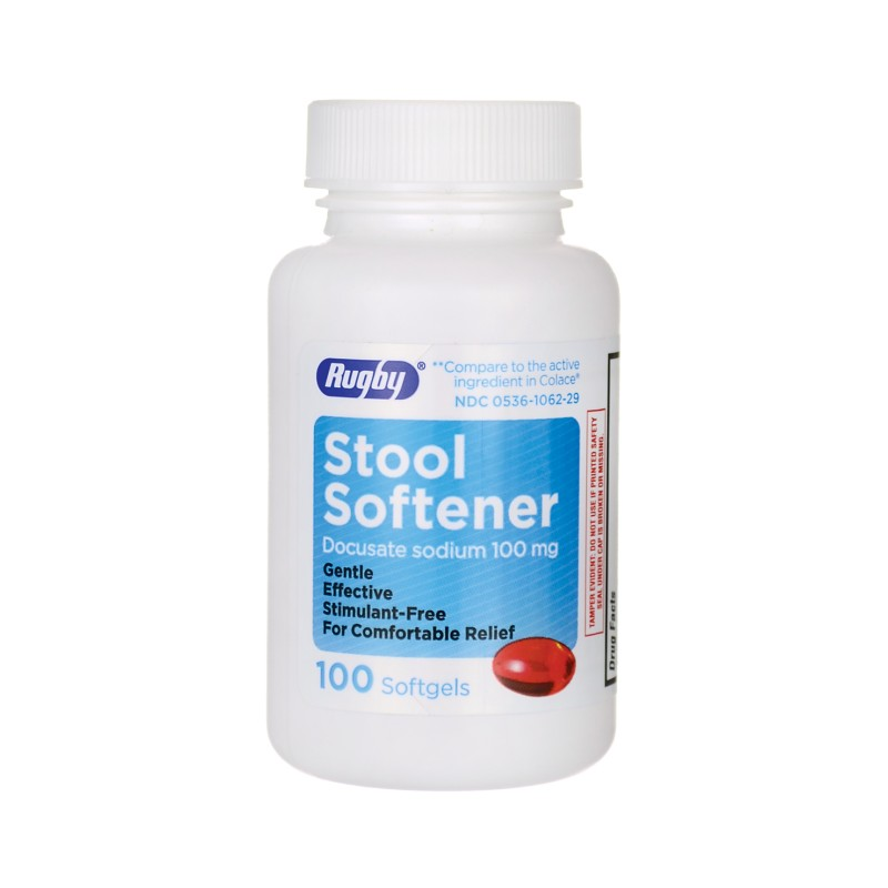 Stool Softener Docusate Sodium 100 Mg 100 Sgels