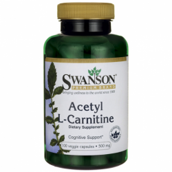 Acetyl LCarnitine, 500 mg 100 Veg Caps