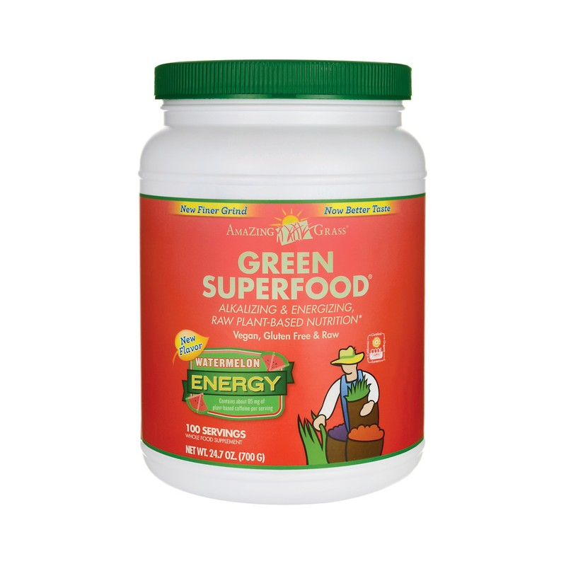 Green SuperFood Energy  Watermelon, 24.7 oz (700 grams) Pwdr