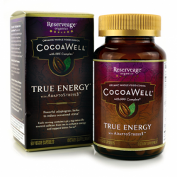 CocoaWell True Energy with AdaptoStress3, 60 Veg Caps