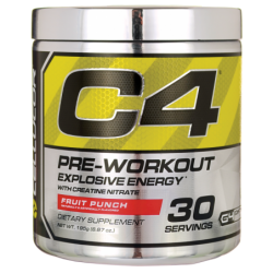 C4 PreWorkout  Fruit Punch, 6.87 oz (195 grams) Pwdr