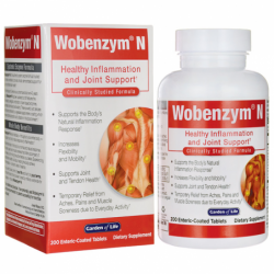 WobenzymN Healthy Inflammation and Joint Support, 200 Tabs