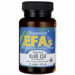 100 Pure Krill Oil, 500 mg 60 Sgels