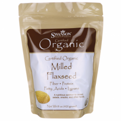 Certified Organic Milled Flaxseed, 15 oz (425 grams) Pwdr
