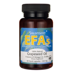 Grapeseed Oil, 500 mg 60...