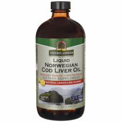 Liquid Norwegian Cod Liver Oil  LemonLime, 16 fl oz (480 mL) Liquid