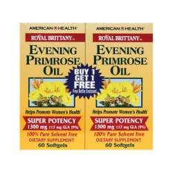Royal Brittany Evening Primrose Oil  Twin Pack, 1,300 mg 2/ 60 Sgels