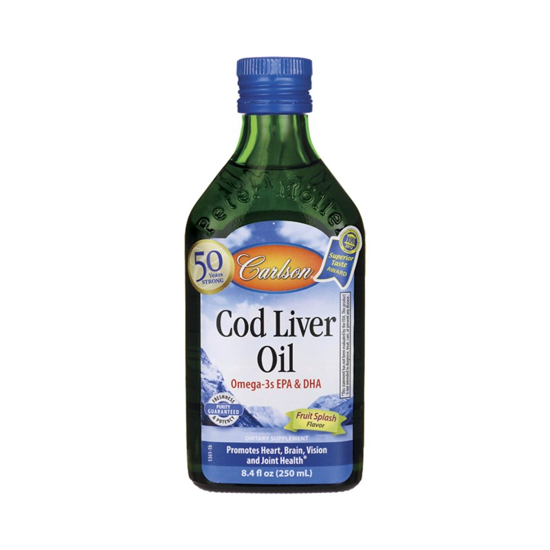 Cod Liver Oil  Fruit Splash, 8.4 fl oz (250 mL) Liquid