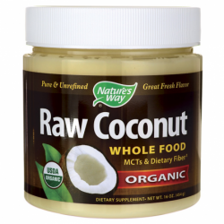Organic Raw Coconut Whole Food, 16 oz (454 grams) Solid Oil