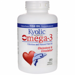 Omega3 Odorless and Natural Fish Oil, 180 Sgels