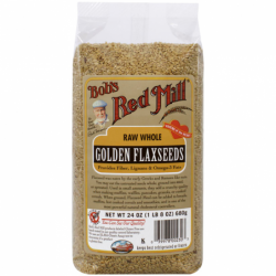 Natural Raw Whole Golden Flaxseeds, 24 oz (680 grams) Pkg