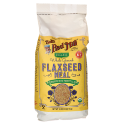 Organic Whole Ground Flaxseed Meal, 16 oz (453 grams) Pkg
