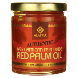 Authentic West African Fair Trade Red Palm Oil, 5 oz (140 grams) Jar