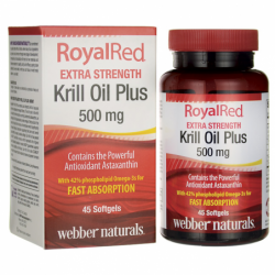 RoyalRed Krill Oil Plus Extra Strength, 500 mg 45 Sgels