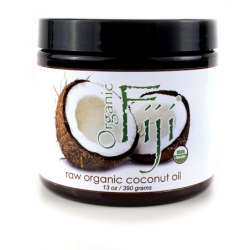 Raw Organic Coconut Oil, 13 oz Solid Oil