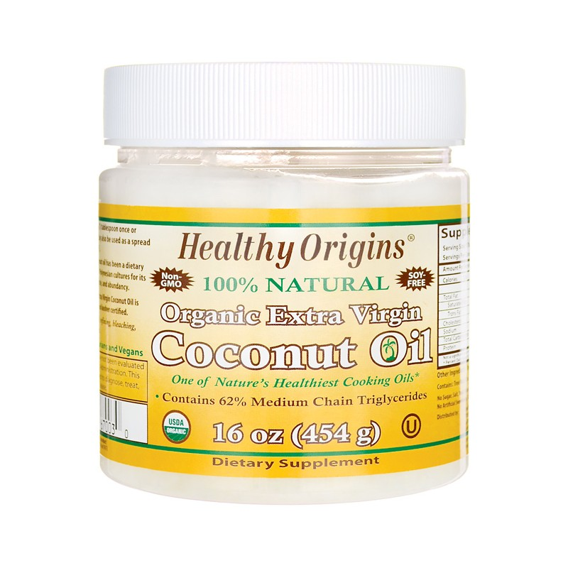 Organic Extra Virgin Coconut Oil, 16 oz (454 grams) Solid Oil