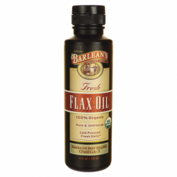 Organic Fresh Flax Oil, 8 fl oz (236 mL) Liquid