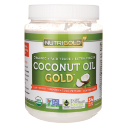 Coconut Oil Gold, 54 fl oz (1,597 mL) Solid Oil