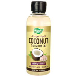 Coconut Premium Oil  Savory Garlic, 10 fl oz (296 mL) Liquid