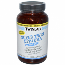 Super Twin EPADHA Fish Oil, 1,250 mg 100 Sgels