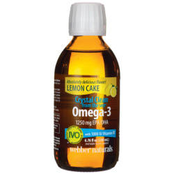 Crystal Clean from the Sea Omega3 with D3  Lemon Cake, 6.76 fl oz (200 mL) Liquid