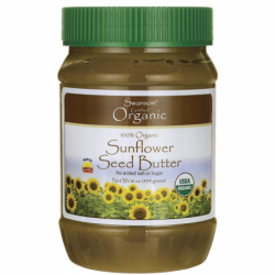 100 Organic Sunflower Seed Butter, 1 lb (454 grams) Solid Oil