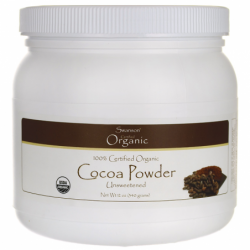 100 Certified Organic Cocoa Powder Unsweetened, 12 oz (340 grams) Pwdr