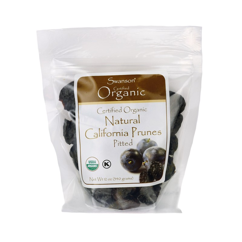 Certified Organic California Pitted Prunes, 12 oz (340 grams) Pkg