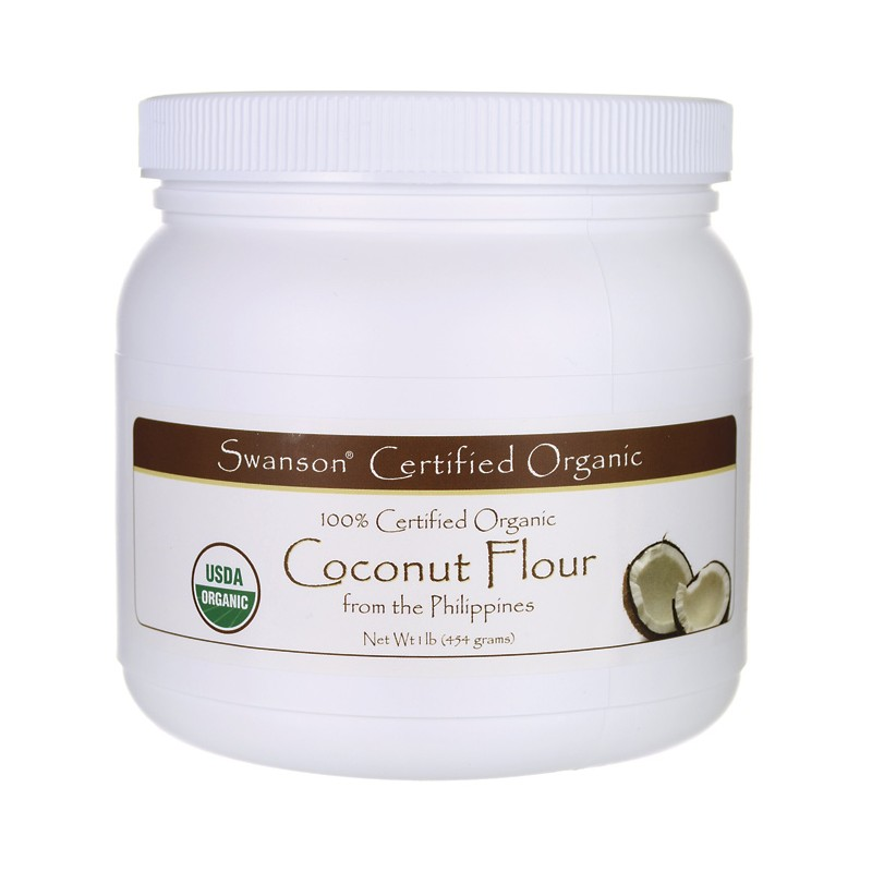 100 Certified Organic Coconut Flour, 1 lb (454 grams) Pwdr