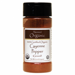 100 Certified Organic Ground Cayenne Pepper, 1.5 oz (42.5 grams) Pwdr