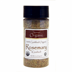 100 Certified Organic Rosemary Crushed, 1.2 oz (34 grams) Flakes