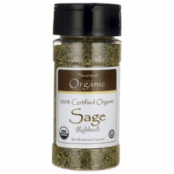 100 Certified Organic Sage Rubbed, 0.8 oz (22.7 grams) Pwdr
