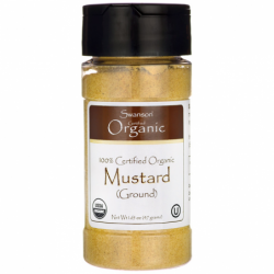 100 Certified Organic Mustard Ground, 1.65 oz (47 grams) Pwdr