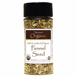 100 Certified Organic Fennel Seed, 1.6 oz (45 grams) Seeds
