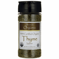 100 Certified Organic Thyme Leaves, 0.7 oz (19.8 grams) Pwdr