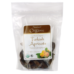 Certified Organic Turkish Apricots, Unsulphured, 11.5 oz (326 grams) Pkg