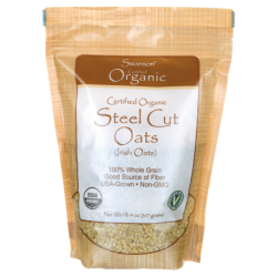 Certified Organic Steel Cut Oats, 1 lb 4 oz (567 grams) Pkg