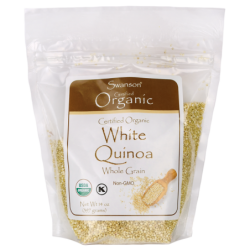 Certified Organic White Quinoa, 14 oz (397 grams) Seeds