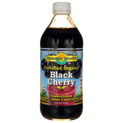 Certified Organic Black Cherry Unsweetened 100 Juice Con, 16 fl oz (473 mL) Liquid
