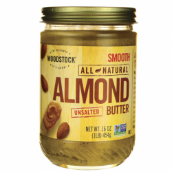 All Natural Almond Butter Unsalted, 16 oz Jar