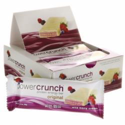 Power Crunch Protein Energy Bar Wild Berry Creme, 12/1.4 oz Bar(s)
