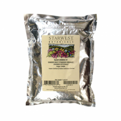 Ginger Root Powder Organic, 1 lb Pkg