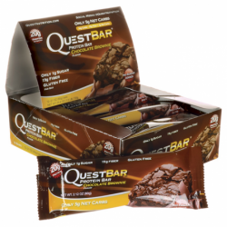 QuestBar Protein Bar  Chocolate Brownie, 12/2.1 oz (60 grams) Bar(s)
