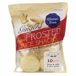 Baked Frosted Rice Snacks  Ginger, 10 Pack(s)