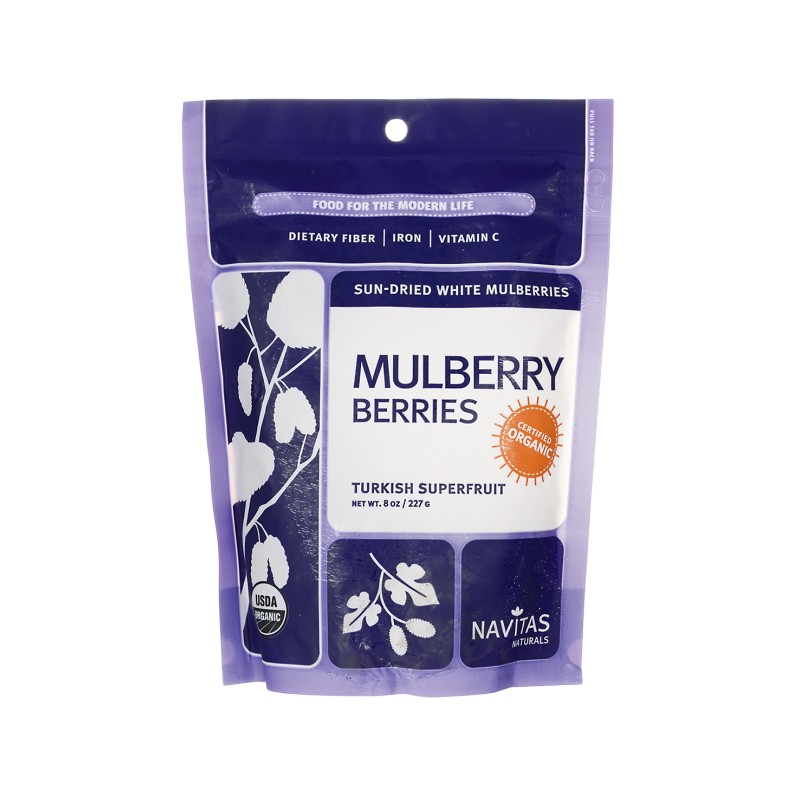 SunDried White Mulberries, 8 oz (227 grams) Pkg