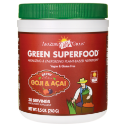 Green SuperFood Drink Powder  Berry, 8.5 oz (240 grams) Pwdr